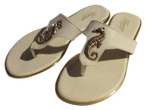 Avanti Seahorse Summer Resort Flat white Sandals