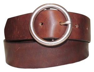 Gap Gap brown leather belt with gold buckle