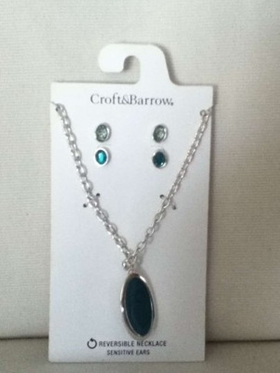 Croft & Barrow Croft & Barrow Reversible Necklace and Earring set
