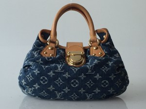 Louis Vuitton Denim Blue Hobo Bag