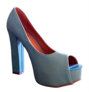 Qupid aqua, teal Pumps
