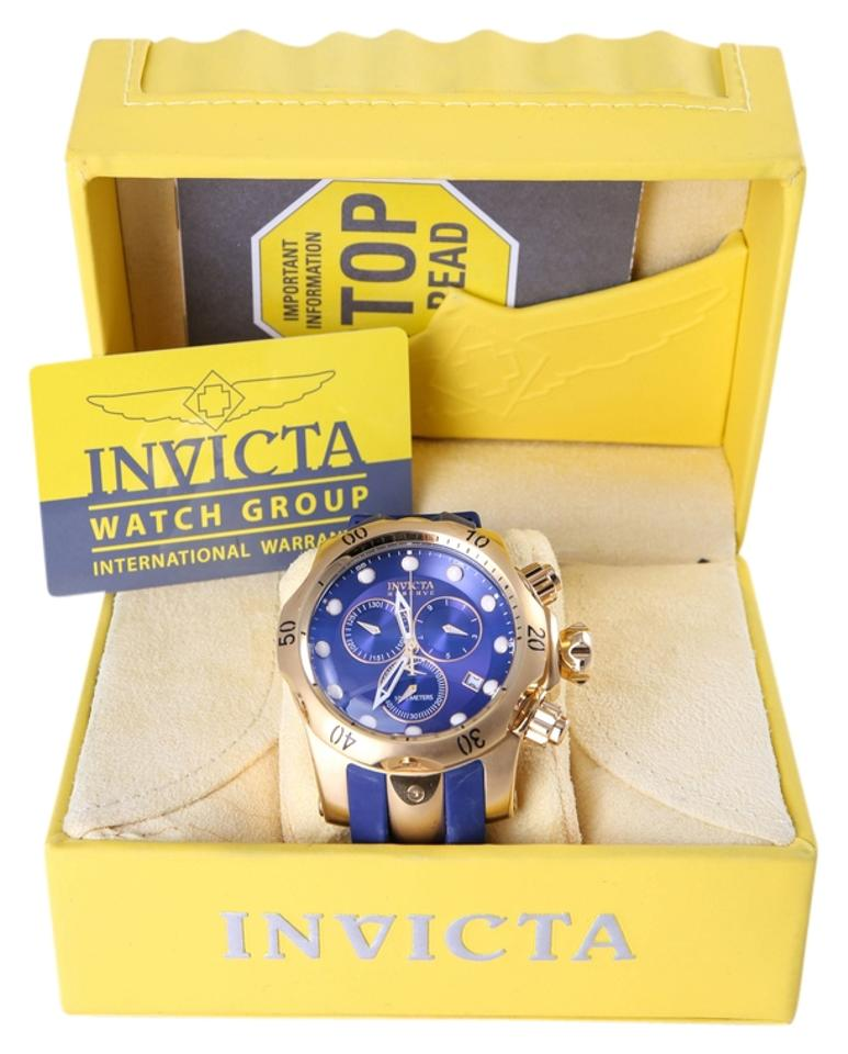 6a96dc35a2b Invicta Gold Plated/Navy Blue 6113 Reserve Collection Subaqua Venom Watch
