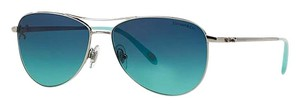 Tiffany & Co. TF 3044 60014S - SILVER Tiffany Aviator with BLUE GRADIENT LENSES