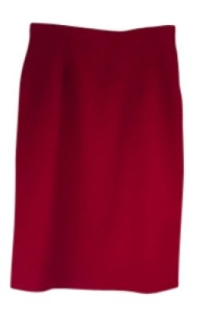 Red Vintage Summer Wool Work Skirt Size 12 (L, 32, 33) Red Vintage Summer Wool Work Skirt Size 12 (L, 32, 33) Image 1