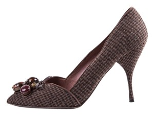 Miu Miu Brown Tweed Pumps