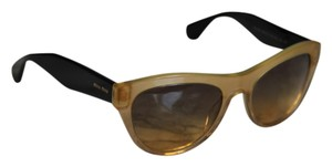 Miu Miu Miu Miu SMU 09O Yellow Black Cat Eye Sunglasses
