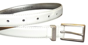 Liz Claiborne Liz Claiborne white belt with silver hardware