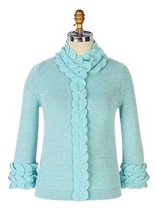 Anthropologie Moth Embellished Blue Cardigan