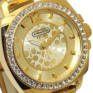 Coach Coach Womens Watch Gold Stainless Steel Swarovski BOYFRIEND 14501700