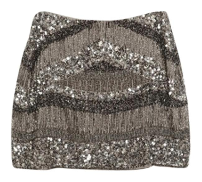 Item - Silver Embroidered with Sequins Skirt Size 2 (XS, 26)