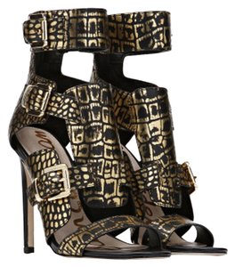 Sam Edelman Samedelmanheels Samedelmanhighheels Pumps Black and gold Sandals