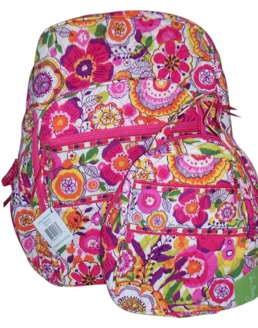 Item - Campus & Lunch Bookbag College School Baby Clementine Pink Orange Yellow Cotton Backpack