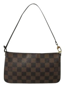 Louis Vuitton Pochette Ebene Damier Hand Shoulder Bag