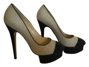 Charlotte Olympia Black/Natural Pumps