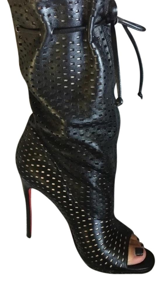 quality design eb763 a4b0e Christian Louboutin Jennifer Black Leather 120mm Stiletto 36 Boots/Booties  Size US 6 Regular (M, B) 36% off retail