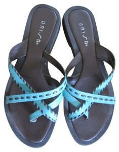 Unisa See For Wear These Will Sell Fast No Longer Fit Great Buy! Soft Buttery Leather Turquoise blue and brown Sandals