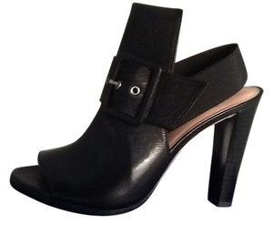 Stuart Weitzman Buckle Slingback Heal Leather black Sandals