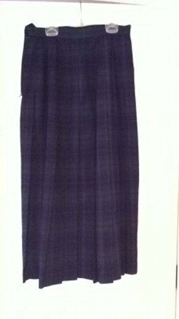 Michelle Stuart Amazing Pleated Tartan 8 M All Season Black Blue Green Purple Blackwatch Pleated 8 M Medium Blackwatch Black Blue Skirt plaid