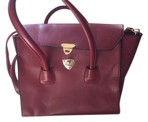 KCMODE Twist Lock Satchel in Oxblood