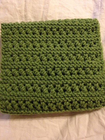 Other Green Eyelet Infinity Scarf