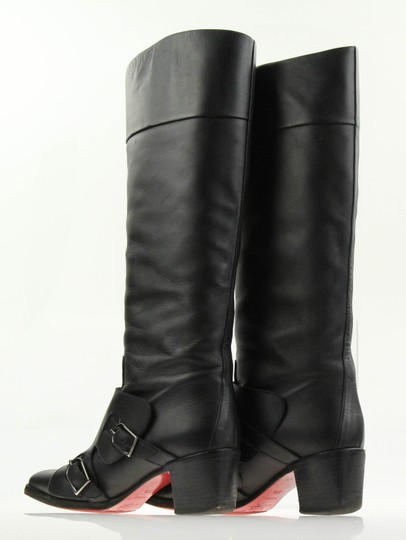 new style 06c7b 2608a Christian Louboutin Black Leather Caballero Boots/Booties Size US 7.5  Regular (M, B)