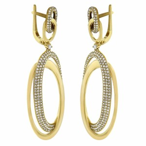 Other 1.71ct Diamond 14k Yellow Gold Round Drop Earrings