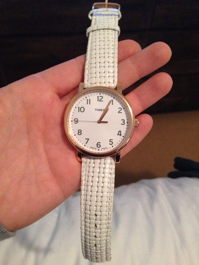 Timex Timex Watch - Rose Gold Hardware w/ White Basket Weave Strap Image 3