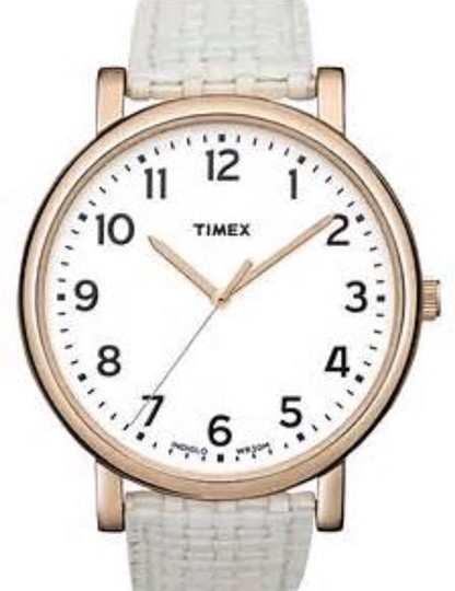 Timex Timex Watch - Rose Gold Hardware w/ White Basket Weave Strap Image 4