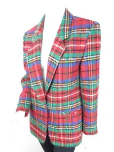Pendleton Pendleton Vintage Womens Red Green Blue Virgin Wool Christmas Holiday Blazer