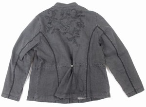 Coldwater Creek Gray Black Gray-Black Womens Jean Jacket