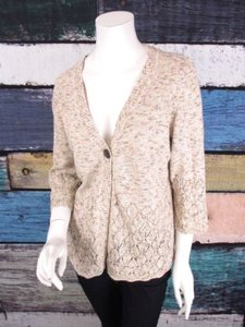 Christopher & Banks Pointelle Knit Cardigan Sweater
