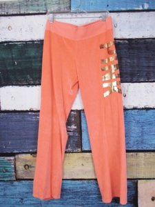 Victoria's Secret Pink Bling Velour Sweatpants Sweats Pants Sweatshirt