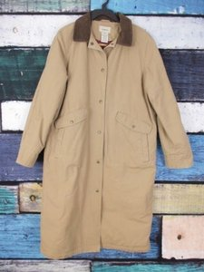 cd343ce5 L.L.Bean Canvas Southwestern Long Barn Field Jacket Petite Pm Coat - item  med img