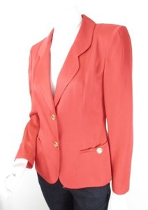 Emanuel Ungaro Emanuel Ungaro Parallele Paris Red Orange Vintage 1980s Blazer Jacket 6