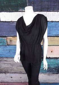The Limited Black Cowl Top Black, Gray