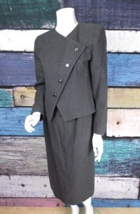 Givenchy Givenchy Neiman Marcus Vintage 1980s Gray Wool Skirt Suit Blazer Set