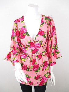 Betsey Johnson Floral Top Pink