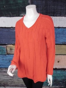 Other Handknit Cotton Knit Tunic Sm Sweater