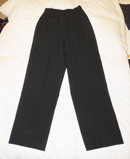 Liz Claiborne Classics High Waisted Size 4 Slacks Straight Pants Black Image 1
