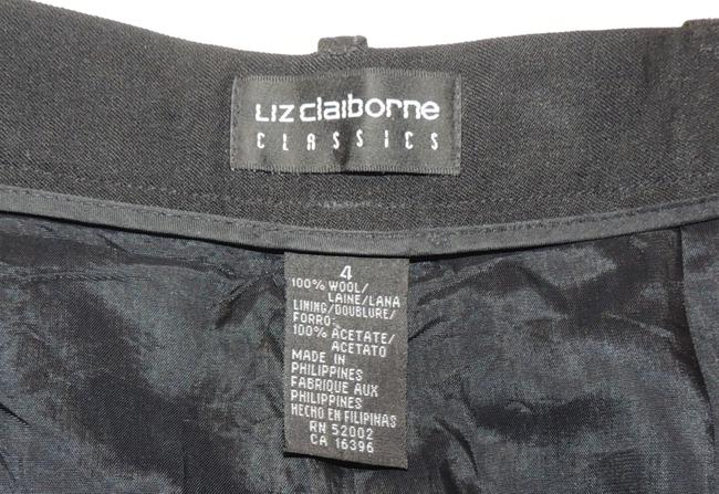 Liz Claiborne Classics High Waisted Size 4 Slacks Straight Pants Black Image 4