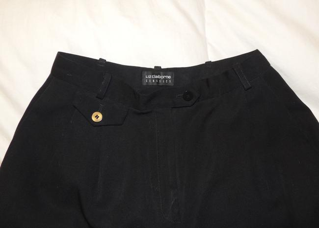 Liz Claiborne Classics High Waisted Size 4 Slacks Straight Pants Black Image 5