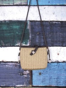 Brighton Tan Woven Shoulder Bag