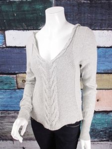 Yoon Anthropologie Dotted Cabled Polka Dot Cable Knit Hoodie Sweater