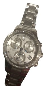 Bulova Ladies' Bulova Accutron Stainless Steel Diamond Bezel Chronograph