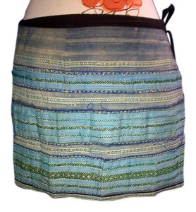 Hand Man in Thia Wrap Mini Skirt mutli color pattern