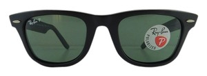 Ray-Ban New Ray-Ban Sunglasses RB 2140 6066/58 Wayfarer Polarized Matte Black Acetate Full-Frame 50mm Made in Italy