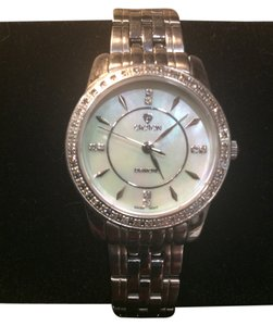 Croton Beautiful Croton Stainless Steel Diamond Bezel/MOP Dial Dress Watch