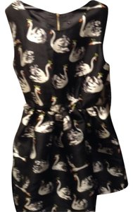 short dress Swan print Bubble on Tradesy