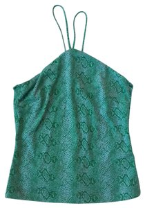 BCBGMAXAZRIA Green Halter Top