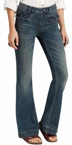 Free People Flare Leg Jeans-Distressed